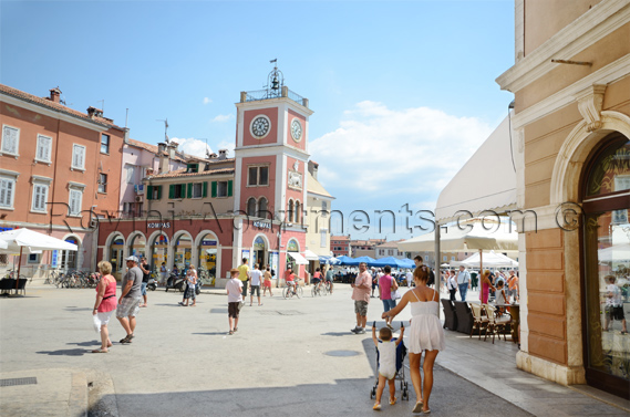 Sights in the Old Town of Rovinj - The Town Clock
