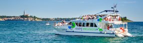 Book your accommodation in Rovinj and get 30% discount on various boat tours.